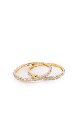 CZ DIAMOND SINGLE LINE BANGLES