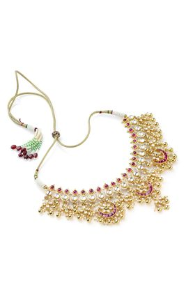 MULTI KUNDAN CHAND NECKLACE SET