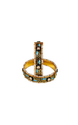 KUNDAN TURQUOISE BANGLE