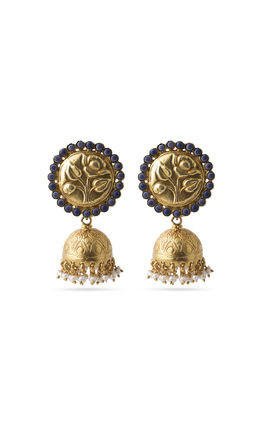 PURPLE STONE ZUMAR EARRINGS