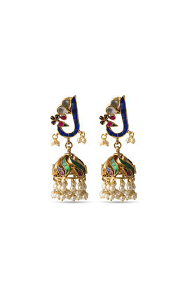 Multi stone kundan zumar earrings