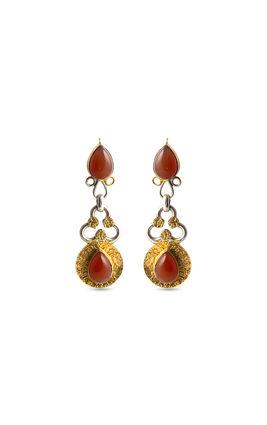 Rust stone earrings