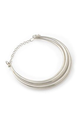 PLAIN SILVER 3 LINE HASDI NECKLACE