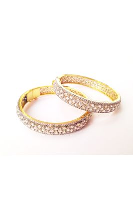 CZ MARQUIS GOLD PLATED BANGLE