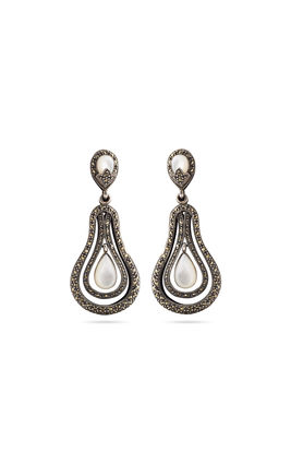 Silver marca earrings