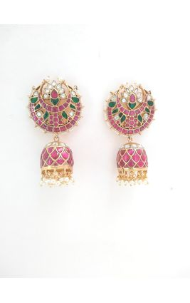 92.5 SILVER TEMPLE CHAND JUMKA EARRING