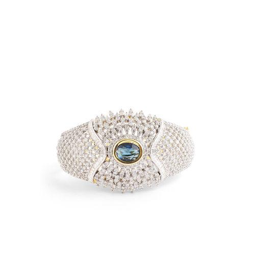 CZ DIAMOND WITH CHOKI CHANGEABLE BROAD BRACELET