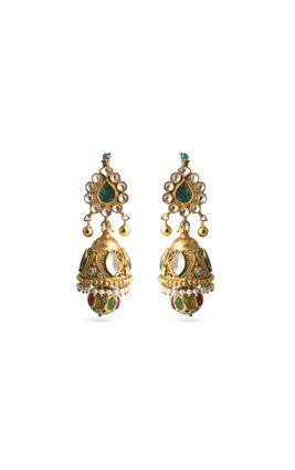 MULTI STONE KUNDAN DOOL EARRINGS