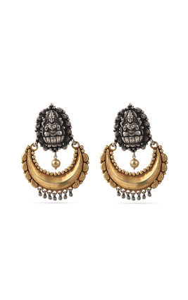 Golden silver chand earrings