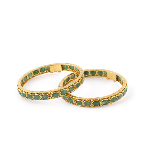 CZ DIAMOND EMERALD STONEBANGLES