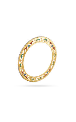 CZ DIAMOND SINGLE LINE ENAMEL BANGLES