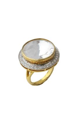 CZ DIAMOND BIG STONE SOLITAIRE RING