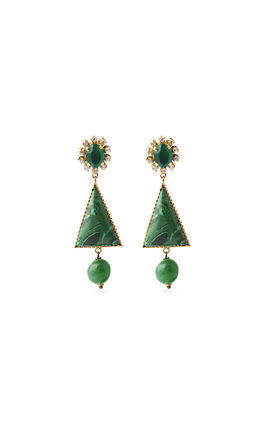 MALACHITE STONE EARRINGS