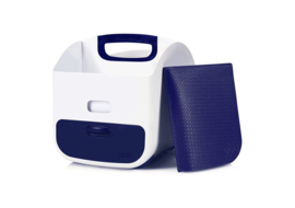 UBBI Diaper Caddy - Navy Diaper Bag Dispenser