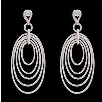 Diamond Earrings, 1.95cts, 18k 15.3gms, e/f-vvs