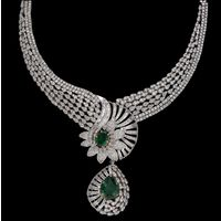 Diamond Necklace, 13.50cts, 18k 45.10gms, e/f-vvs1
