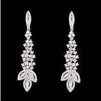 Diamond Earrings, 4.25cts, 18k 21.00gms, e/f-vvs