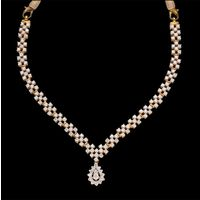 Diamond Necklace, 6.49cts, 18k 26.12gms, e/f-vvs1