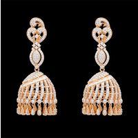 Diamond Earrings, 4.69cts, 18k 38.36gms, e/f-vvs