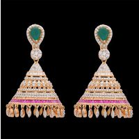 Diamond Earrings, 4.23cts, 18k 38.76gms, e/f-vvs