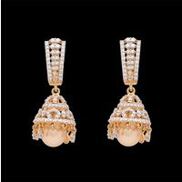 Diamond Earrings, 2.10cts, 18k 22.3gms, e/f-vvs