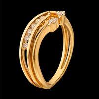 Diamond Ring, 0.15cts, 18k 3.51gms, e/f-vvs