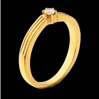 Diamond Ring, 0.13cts, 18k 4.90gms, e/f-vvs