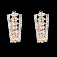 Diamond Earrings, 0.65cts, 18k 4.30gms, e/f-vvs