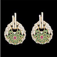 Diamond Earrings, 1.10cts, 18k 9.20gms, e/f-vvs