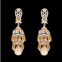 Diamond Earrings, 3.34cts, 18k 35.23gms, e/f-vvs