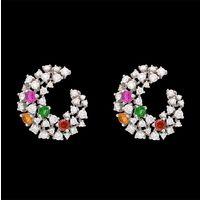 Diamond Earrings, 2.35cts, 18k 8.62gms, e/f-vvs