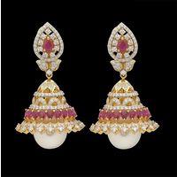 Diamond Earrings, 2.68cts, 18k 35.77gms, e/f-vvs