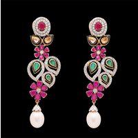 Diamond Earrings, 1.65cts, 18k 25.20gms, e/f-vvs