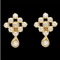 Diamond Earrings, 1.23cts, 18k 7.71gms, e/f-vvs