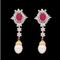 Diamond Earrings, 1.74cts, 18k 16.91gms, e/f-vvs
