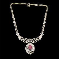 Diamond Necklace, 8.35cts, 18k 32.10gms, e/f-vvs1