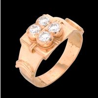 Diamond Ring, 0.60cts, 18k 7.07gms, e/f-vvs