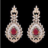 Diamond Earrings, 4.65cts, 18k 26.5gms, e/f-vvs