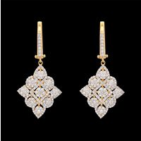 Diamond Earrings, 1.79cts, 18k 9.29gms, e/f-vvs
