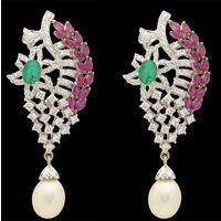 Diamond Earrings, 2.72cts, 18k 24.29gms, e/f-vvs