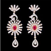 Diamond Earrings, 3.28cts, 18k 21.50gms, e/f-vvs