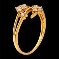 Diamond Ring, 0.34cts, 18k 2.37gms, e/f-vvs