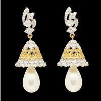 Diamond Earrings, 1.96cts, 18k 18.64gms, e/f-vvs