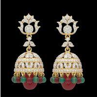 Diamond Earrings, 2.21cts, 18k 19.61gms, e/f-vvs