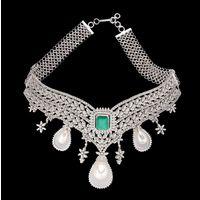 Diamond Necklace, 8.50cts, 18k 45.50gms, e/f-vvs1