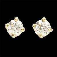 Diamond Earrings, 0.60cts, 18k 3.60gms, e/f-vvs
