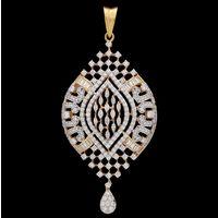 Diamond Pendant, 3.22cts, 18k 14.01gms, e/f-vvs