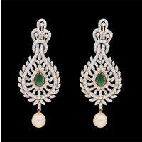 Diamond Earrings, 6.02cts, 18k 27.84gms, e/f-vvs