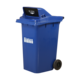 Euroline Range Dustbin with wheel & front opening window, 240 litres, blue