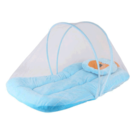 My Newborn baby bedding set with protective mosquito net, cute pillow and folding velvet mattress, Standard Crib